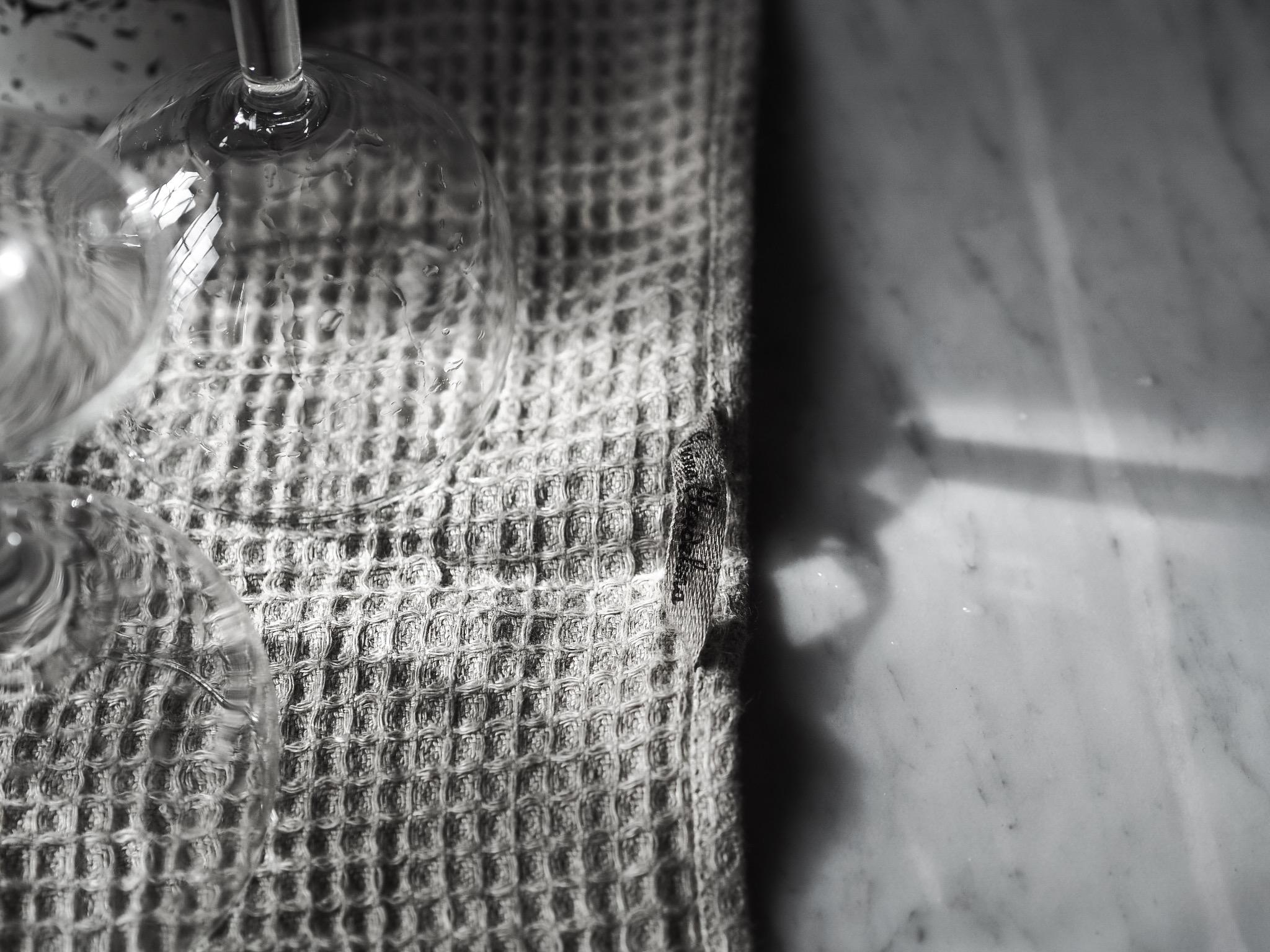 Våfflad handduk Lin Beige - Gröna Gredelina b7409b43c9d60